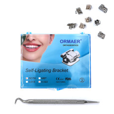ORMAER Dental orthodontic Self-ligating Brackets roth 022 345 Hooks With tool