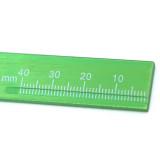 Dental buccal tube Measuring ruler Measuring Metal aluminum ruler