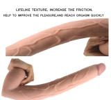 15.55Inch/39.5cm Super Long Realistic Dildo Veined Shaft Anal Plug For Advanced Players