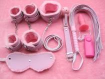 7PCS Bondage Restraints Kit Leather Cuffs For Couple Sex BDSM Bed Love