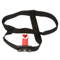 Adjustable Strap-on Harness Bondage with Silicone Dildo Plug for Female Male Masturbation
