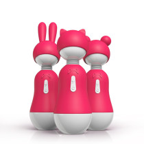 Girl Cute Massagers with Changeable heads for body massage sex toys for women couples