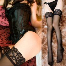 Women's Sheer Thigh-High Stockings Fashion Gift Silky Lace Lingerie