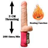 Women's Powerful Thrusting Realistic Dildo Large Heating Vibrator Silicone G-Spot Stimulator Sex Toy Gift For Girlfriend