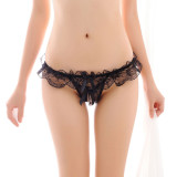Women's 4 Styles Pack Sexy Lace Underwear Cute Breathable Floral Crotchless Panties Perfect Gift For Girlfriend