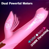 Automatic Licking Vibrator Thrusting Heating Dildo Waterproof Sex Toy For Women