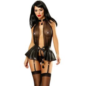 Women's Sexy Clubwear Corset PU Leather Bodysuits Party Dress Nightwear Lingerie Gift for Girlfriend