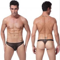 Mens Mesh Thongs Lingerie Breathable Briefs Sexy Underwear See Through Hot Underpants Gift For Boyfriend