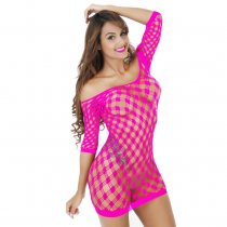 Women's See Though Mesh Lingerie Fishnet Babydoll High Elasticiy Bodystocking