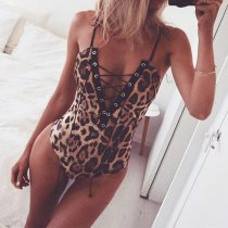 Sexy Leopard Bodysuit For Night Life