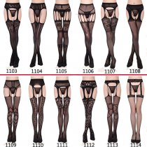 Women's Fishnet Tights Suspender Pantyhose Thigh-High Stockings