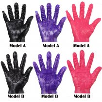 Magic Soft Flirting Massage Glove Ribbed Teasing Fingers Gloves For Sex For Women Couples