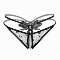 Sexy Massage Pearl G-String Thong Lace T-Back Panties Underwear For Women