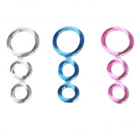 Elastic Cock Ring Sex Toy for Men Male Penis Device