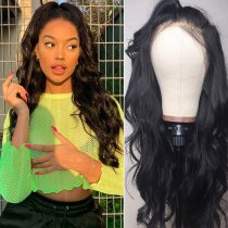150% Density Body Wave Lace Front Wigs Pre-Plucked Brazilian Human Virgin Hair
