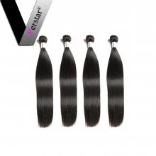 Perstar 9A Brazilian Virgin Straight Hair 4 Bundles Unprocessed Remy Weave Soft And Silky Human Hair Extensions