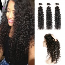 Perstar Water Wave Bundles With 360 lace Frontal Virgin Brazilian Water Wave Human Hair