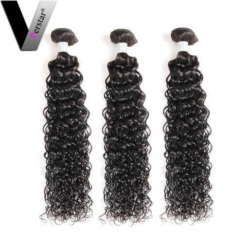 Perstar 9A Brazilian Virgin Water Wave 3 Bundles Remy Unprocessed Human Hair Weave Double Weft Soft And Silky Water Wave Extensions