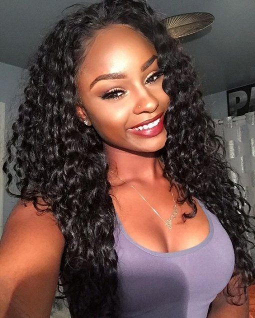 Deep Wave 150% Density Hairstyles Lace Front Wig Wholesale Brazilian Hair