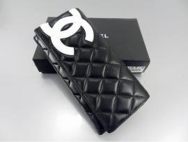 シャネルコピー財布2013新作CHANEL  長財布 三つ折り カンボンライン キルティング  ブラック/ホワイト