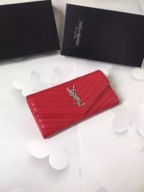 イヴサンローラン財布コピー Yves Saint Laurent新作 レザー レディース 二つ折り長財布 yslqb-008