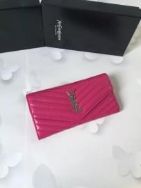 イヴサンローラン財布コピー Yves Saint Laurent新作 レザー レディース 二つ折り長財布 yslqb-011