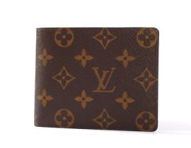 ルイヴィトンコピー LOUIS VUITTON モノグラム ポルトフォイユ・フロリン 二つ折財布 ダークブラウン M60026