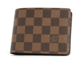 ルイヴィトンコピー LOUIS VUITTON ダミエ ポルトフォイユ・ミュルティプル 二つ折財布(札入れ) ダークブラウン N60895