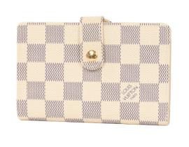 ルイヴィトンコピー LOUIS VUITTON ダミエ アズール ポルトフォイユ・ヴィエノワ 二つ折財布 ホワイト N61676