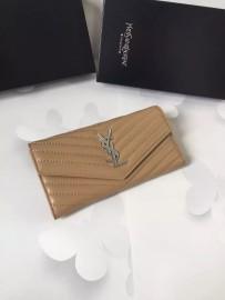 イヴサンローラン財布コピー Yves Saint Laurent新作 レザー レディース 二つ折り長財布 yslqb-009