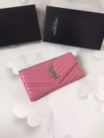 イヴサンローラン財布コピー Yves Saint Laurent新作 レザー レディース 二つ折り長財布 yslqb-007