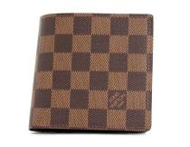 ルイヴィトンコピー LOUIS VUITTON ダミエ ポルトフォイユ・マルコ 二つ折財布 ダークブラウン N61675