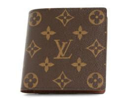 ルイヴィトンコピー LOUIS VUITTON モノグラム ポルトフォイユ・マルコ 二つ折財布 ダークブラウン M61675
