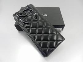シャネルコピー財布2013新作CHANEL  長財布 三つ折り カンボンライン キルティング ブラック