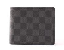 ルイヴィトンコピー LOUIS VUITTON ダミエ グラフィット ポルトフォイユ・フロリン 二つ折財布 グレー N63074