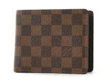 ルイヴィトンコピー LOUIS VUITTON ダミエ ポルトフォイユ・フロリン 二つ折財布 ダークブラウン N60011