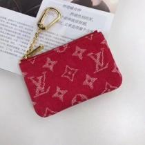 ルイビトン財布コピー LV コインケース デニム ポシェット クレ キーリング付 M62650