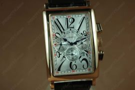 フランクミュラー Franck Muller Watches Long Island RG Case White Dial Black Strap