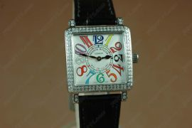 フランクミュラー Franck Muller Watches Conquistador Crazy Hours Color Dreams Automatic Diamond Bezel White Dial