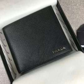 プラダコピー財布 PRADA 2019新作 サフィアーノ 二つ折財布 2M0738-4