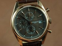 パテックフィリップPatek Philippe Classics Complications RG Case Brown Dial Brown Strap Japan OS20クオーツストップウォッチ
