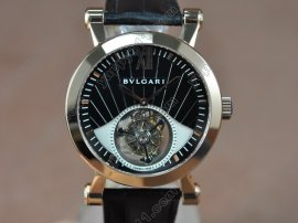 ブルガリBvlgari Sotirlo Bvlgari RG/LE Black Flying Tourbillon Handwind Movementトゥールビヨン