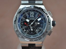 ブルガリBvlgari Diagono X-PRO Chrono GMT SS/RU Blue Asian 7750 Movt自動巻き