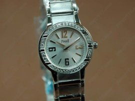 ピアジェPiaget Polo Ladies SS/Diamonds Grey Swiss Eta Quartzクオーツ