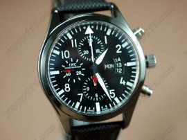 IWC Watches Doppel Chronograph Ceramic Black Asia 7750自動巻き