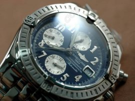 ブライトリングBreitling Chronomat Evolution SS Blue/Num Asia 7750 Chronos自動巻き