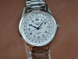 ロンジン Longines Masters Collection SS White Swiss Eta 2836自動巻き