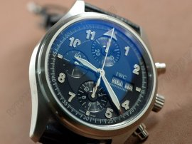 IWC Spitfire Chrono Laureus SS/LE Blue Asian 7750自動巻き
