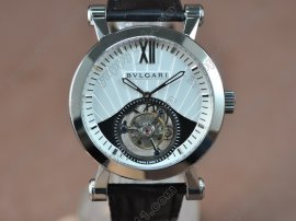 ブルガリBvlgari Sotirlo Bvlgari SS/LE White Flying Tourbillon Handwind Movementトゥールビヨン