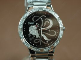 ピアジェPiaget Sculpture Totem SS Case Diamond Black Dial Swiss Quartz Movementクオーツ